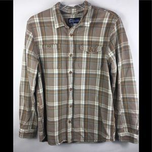 Men's O'Neil flannel plaid button down shirt XL